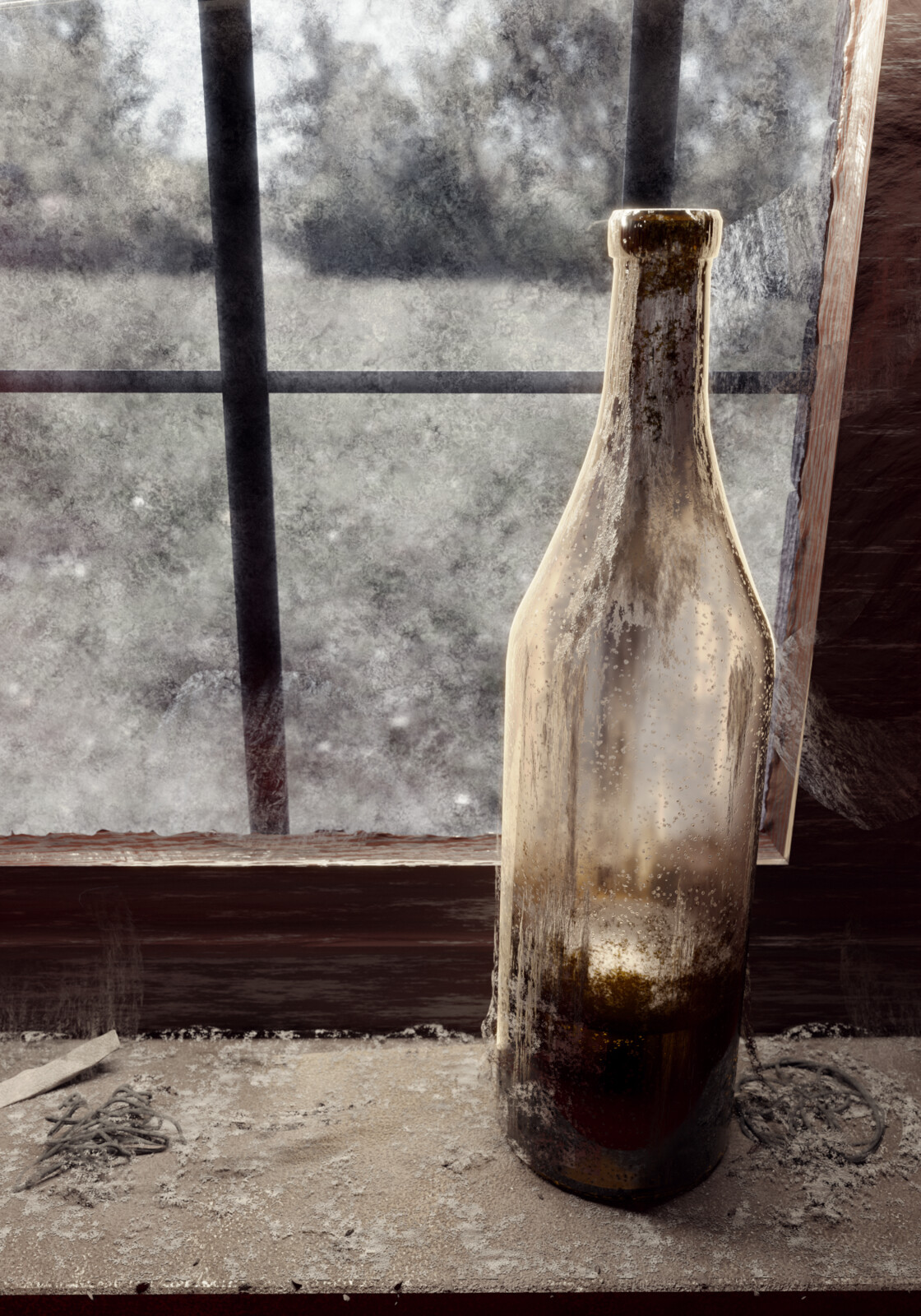 An old bottle (Material Practice March)