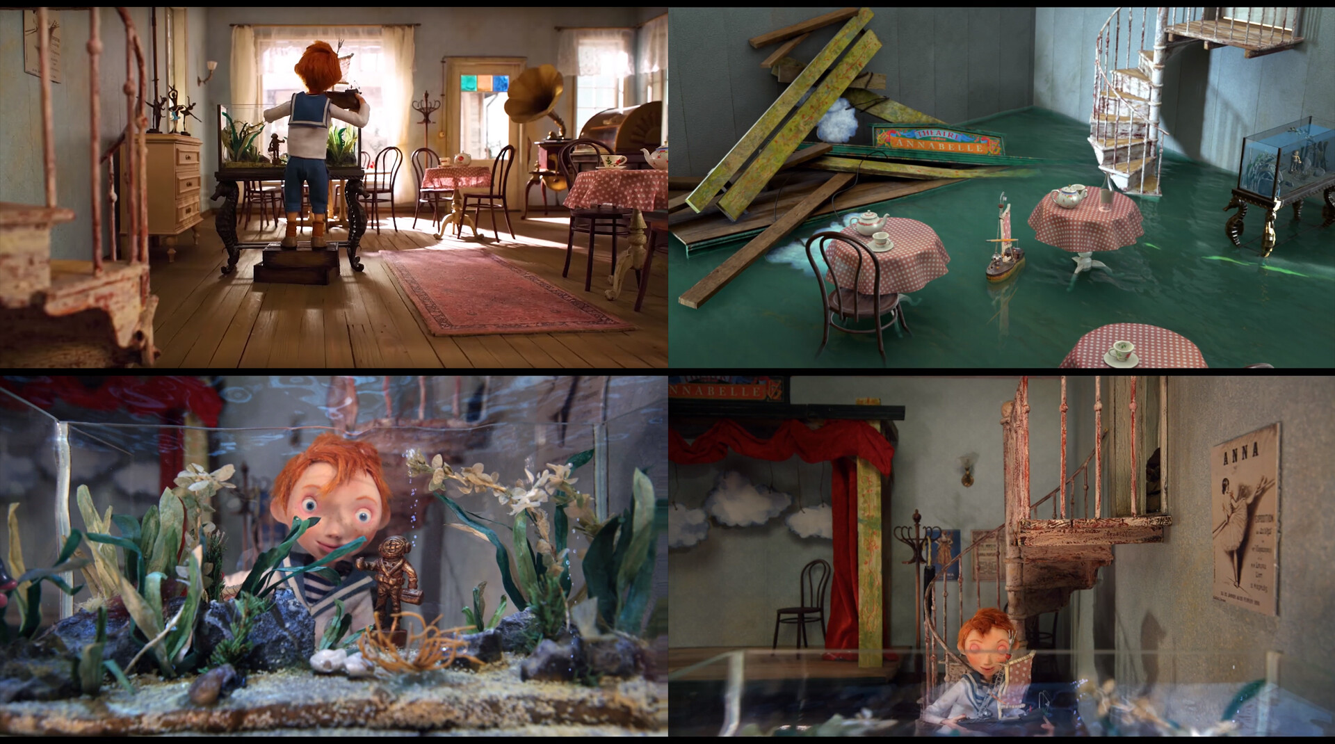 Some images of the real set, second image is a test CG shot