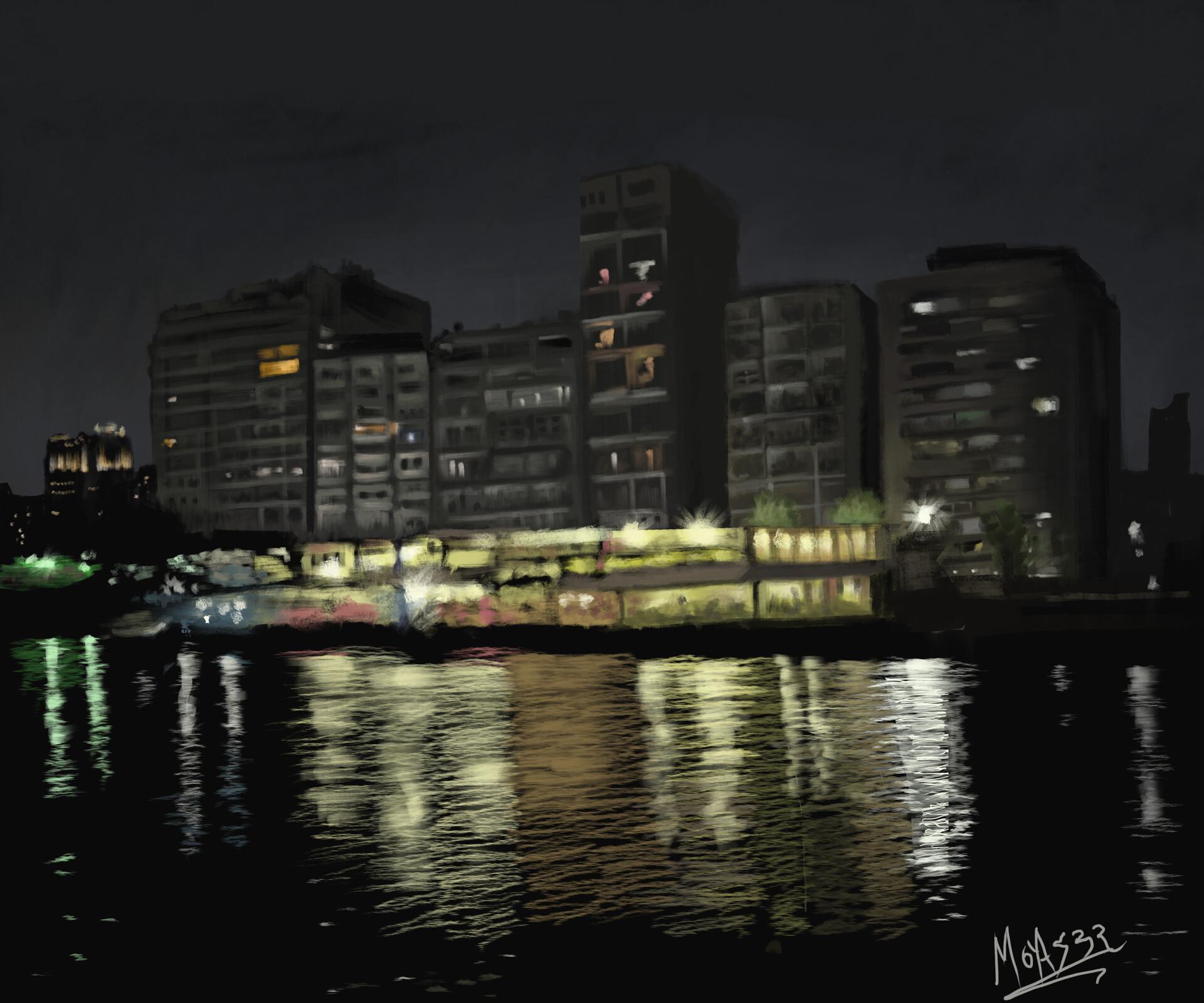 Artstation Nile At Night Moyaser Ibrahim