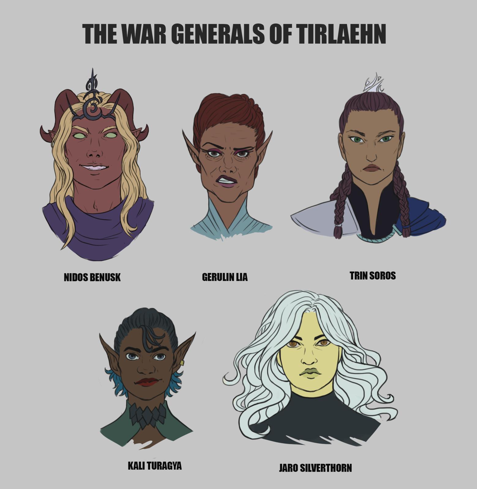 War Generals of Tirlaehn