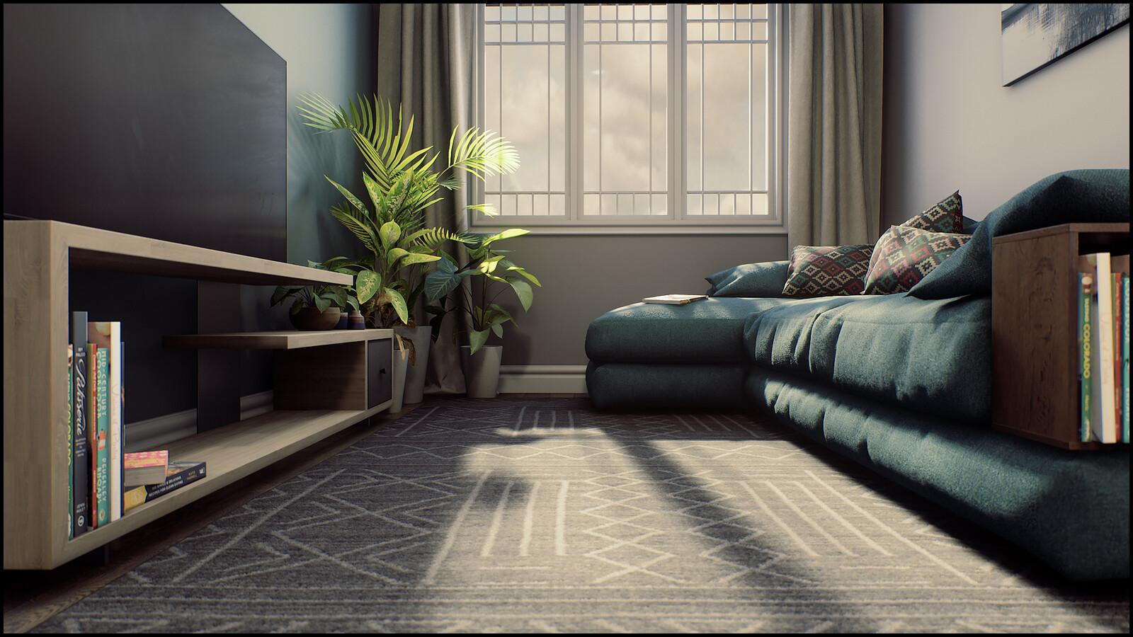 modern apartment unreal archviz