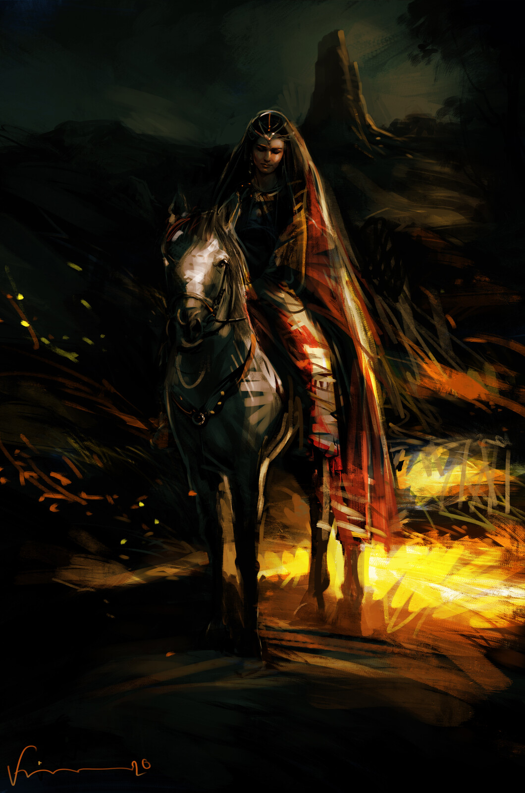 lady with horse