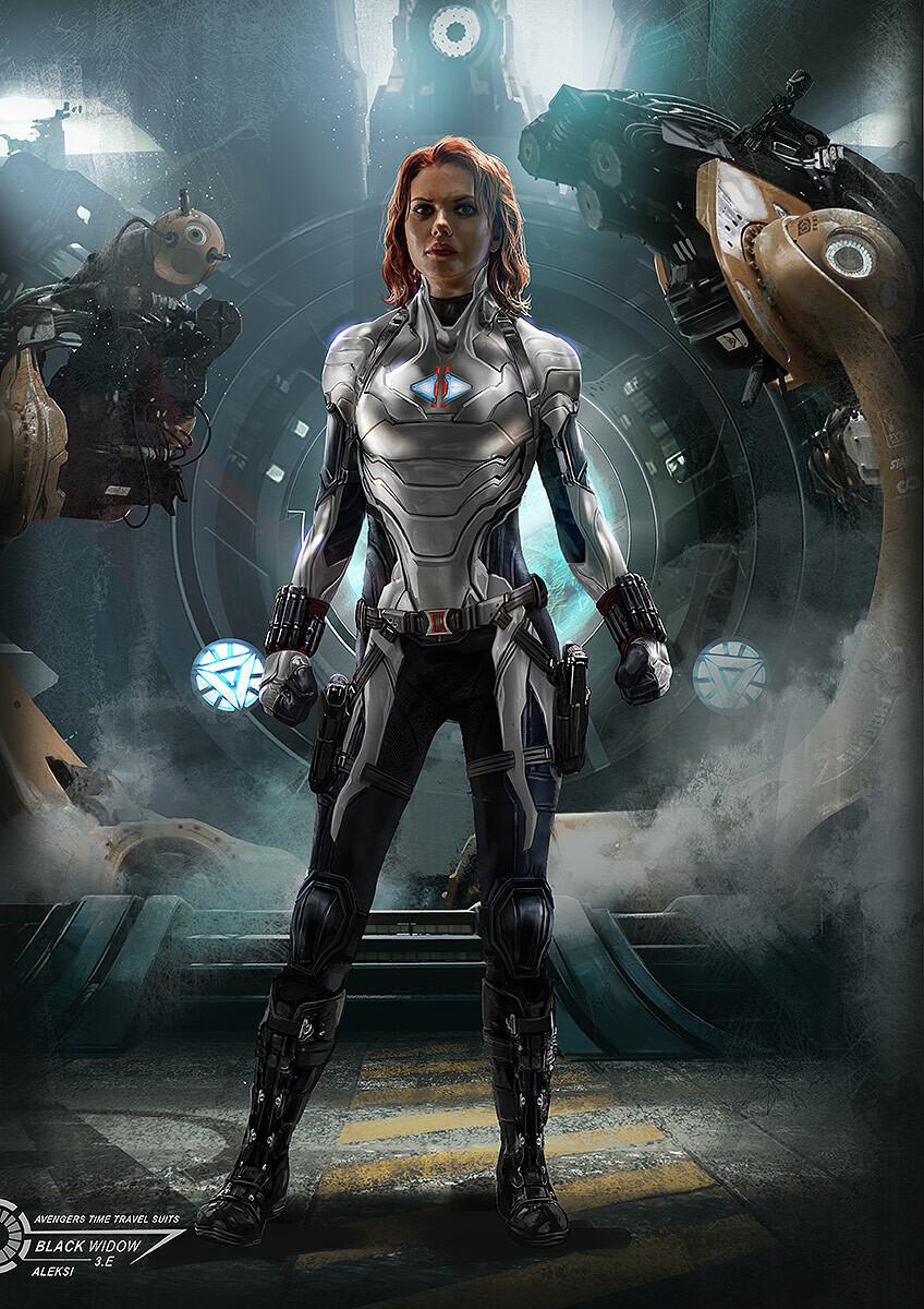 Artstation Avengers Endgame Black Widow Time Travel Suit Aleksi Briclot