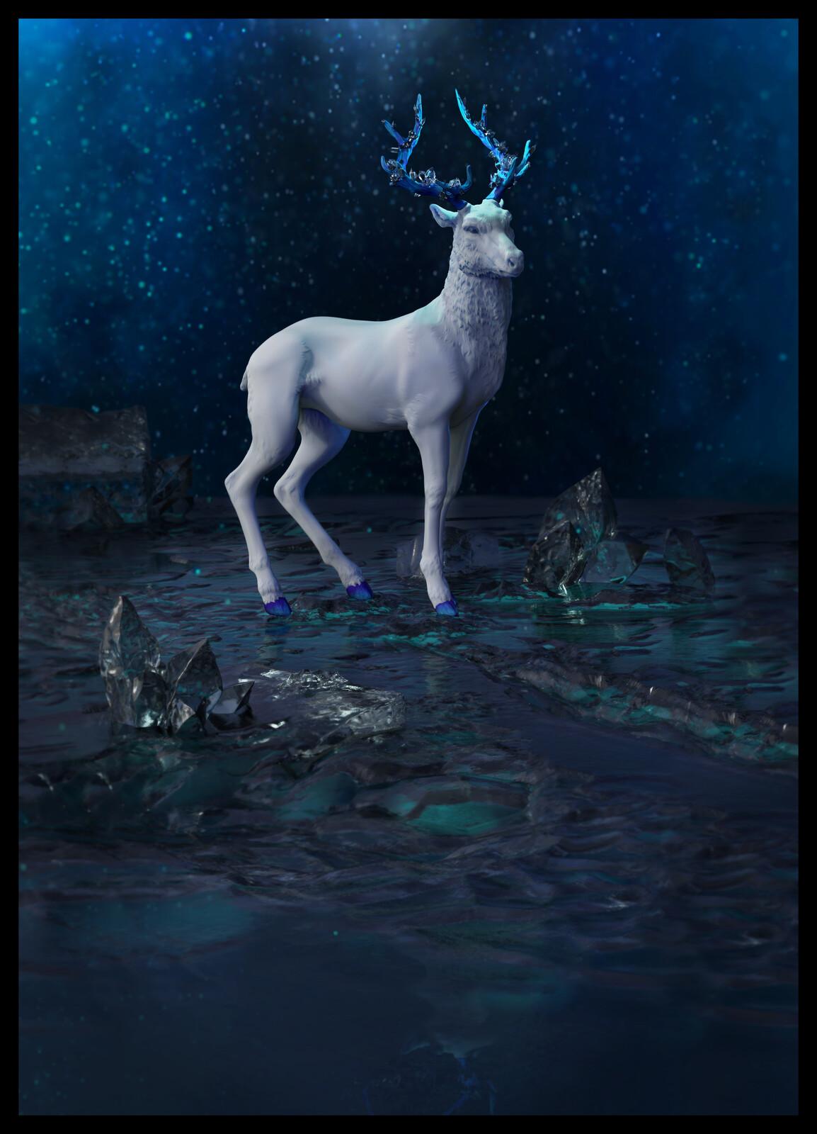 fantastic crystal deer - printed in white book 2