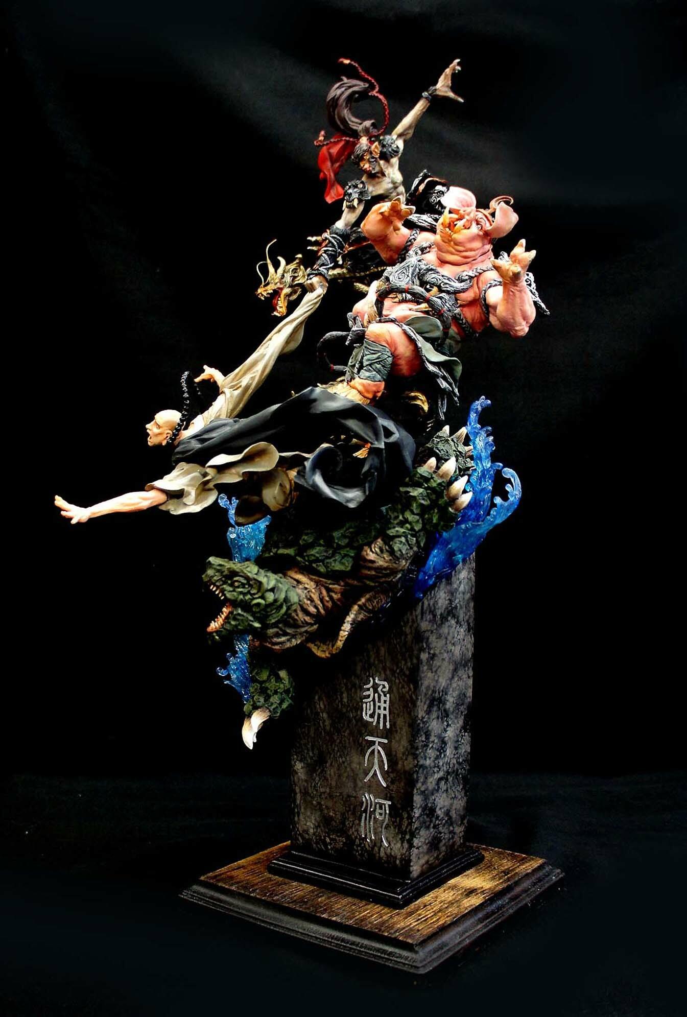 通天河 Monkey King: Tongtian River Journey To The West A Chinese Odyssey Art Statue