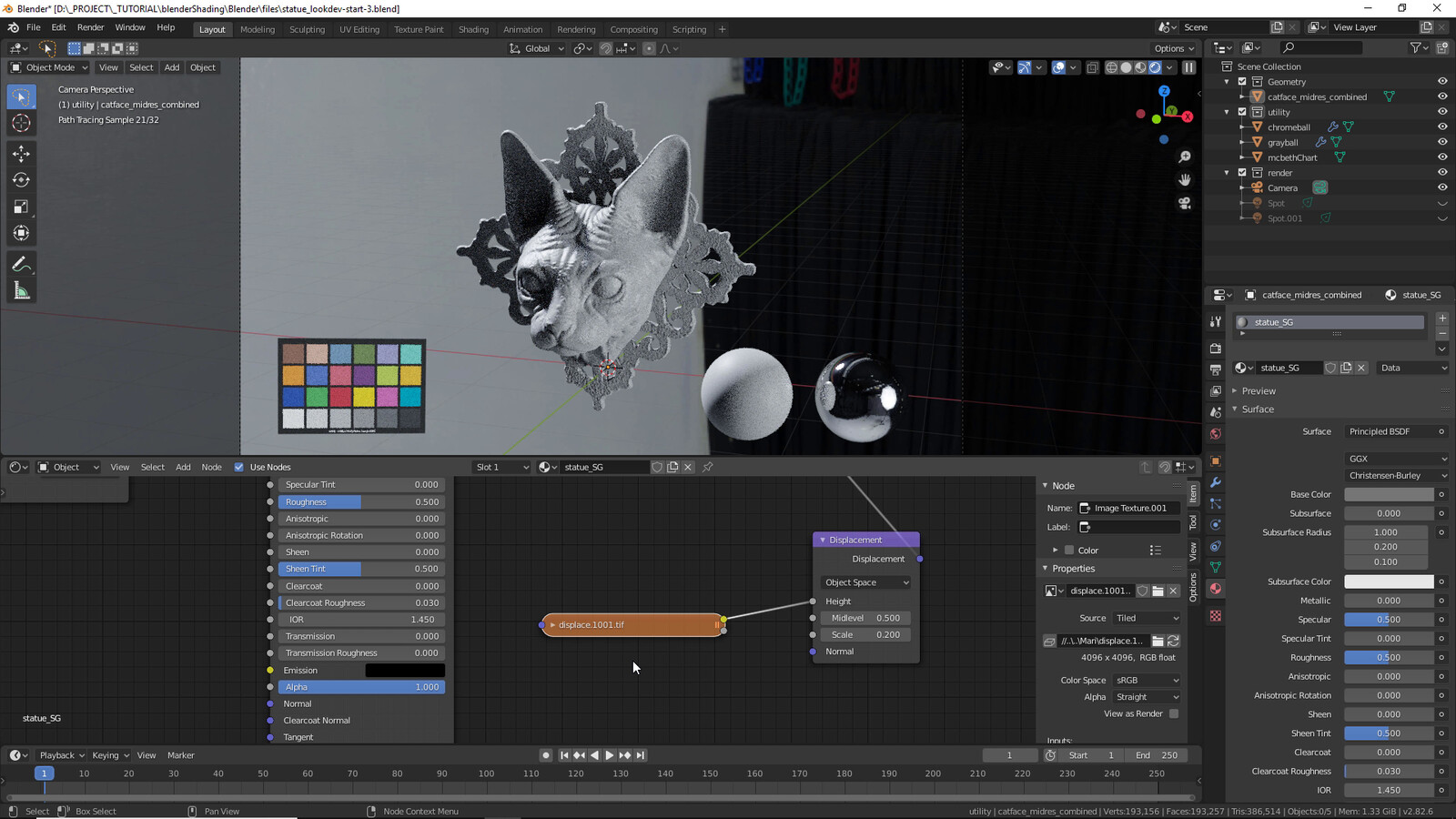 Showing realtime displacement