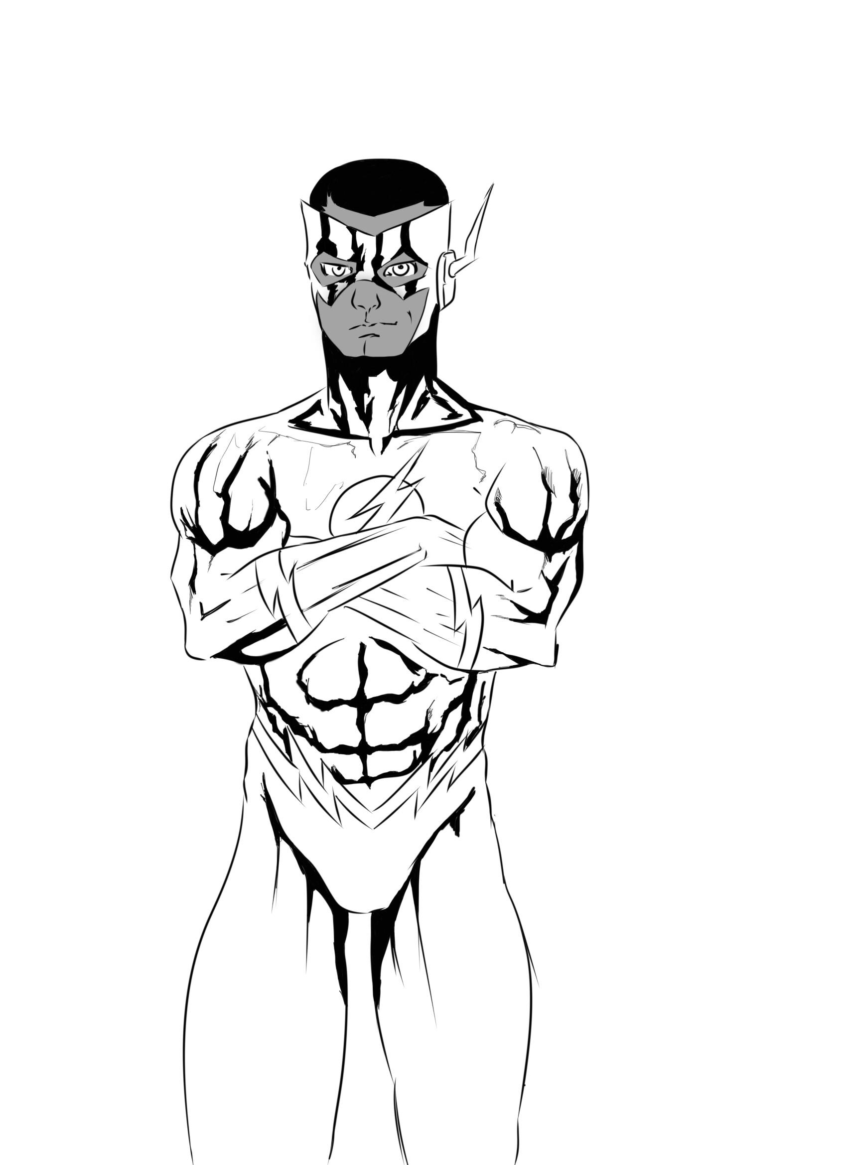 Artstation Kid Flash Wally West 2 Ink Marcos Igor