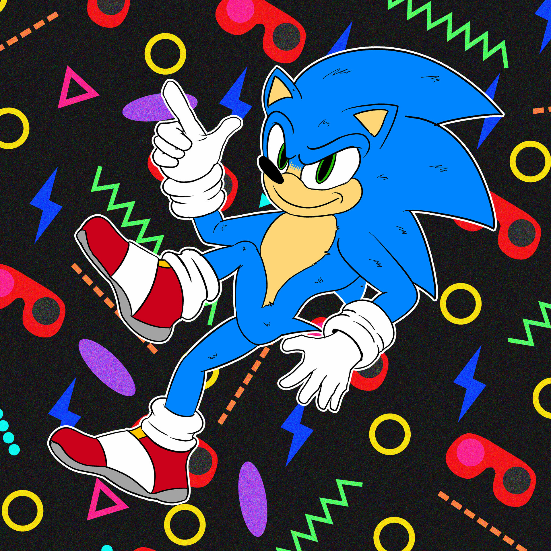Artstation Sonic The Hedgehog Movie Graphic 2020 Wishyy