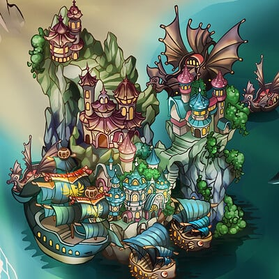 Dna arts world map full previewartstation