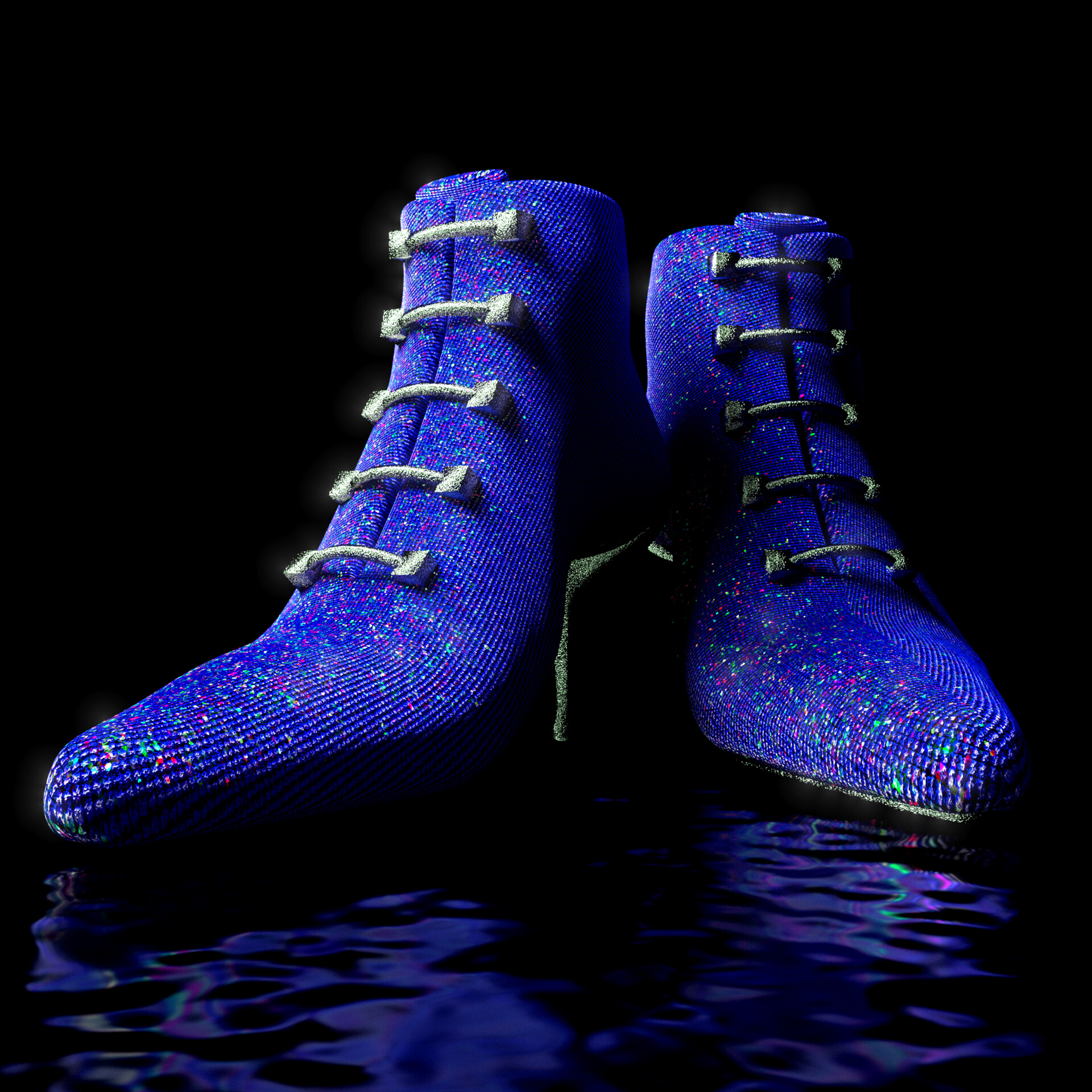 Shoes rendered with  Blender Cycles