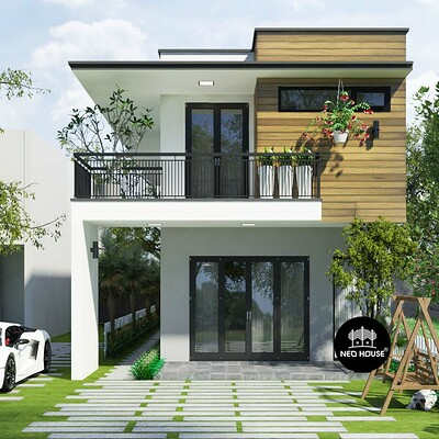 Neohouse architecture thiet ke nha hien dai 5m kinh phi 2ty neohouse 1
