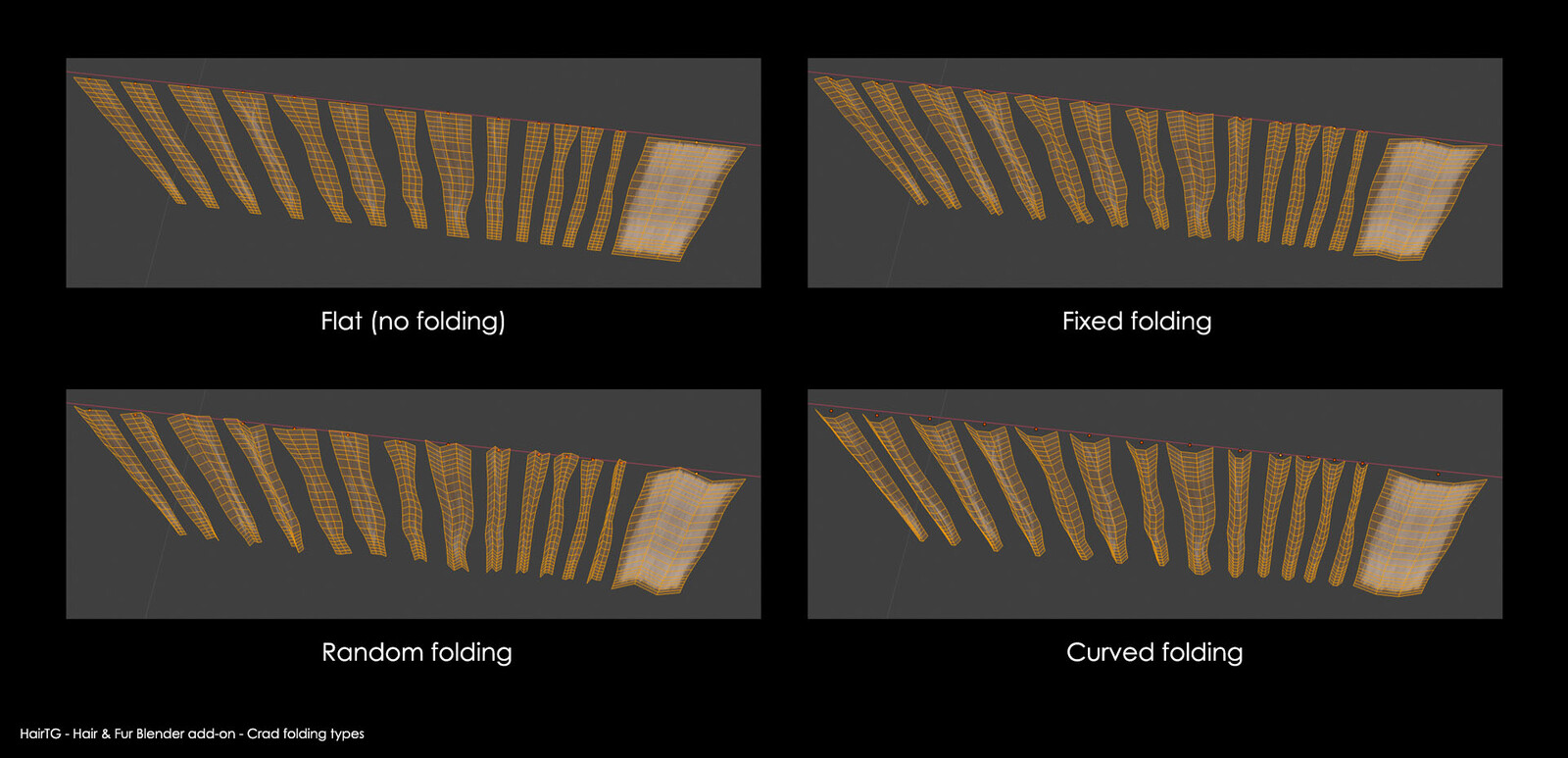 Blender add-on: various card folding types to make them look thicker when seen from the side.