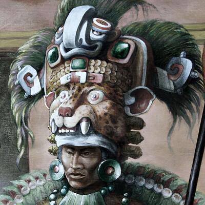 Science meets art zapotec king