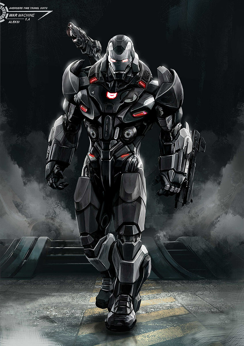 War Machine armor without any pattern (this was my first step)