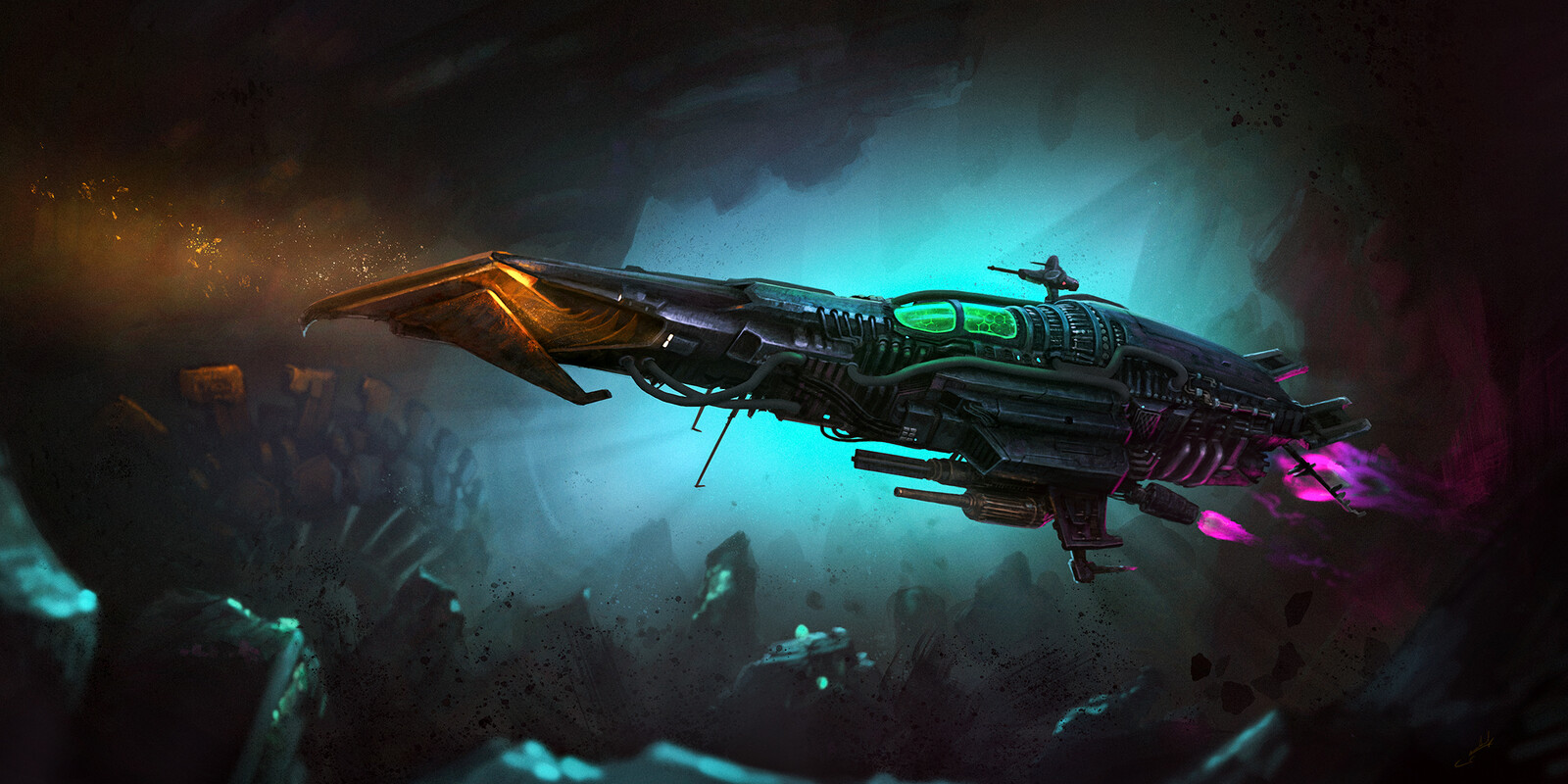 """""""Space Fighter"""" spaceship"""