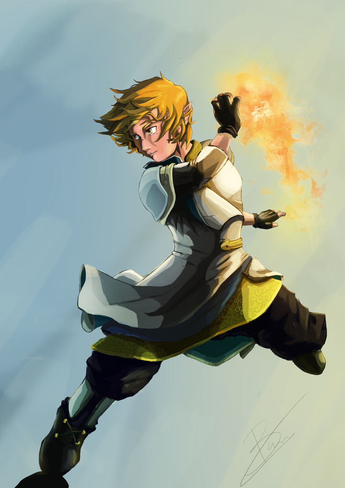 OC - Yallar Character Design: Fire Mage