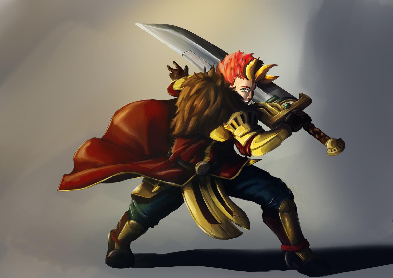 OC - Marix Character Design: Warrior