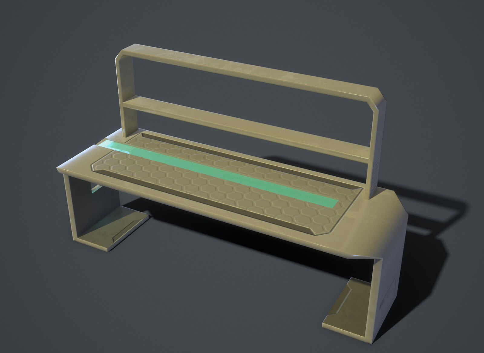 Standing desk - Marmoset render