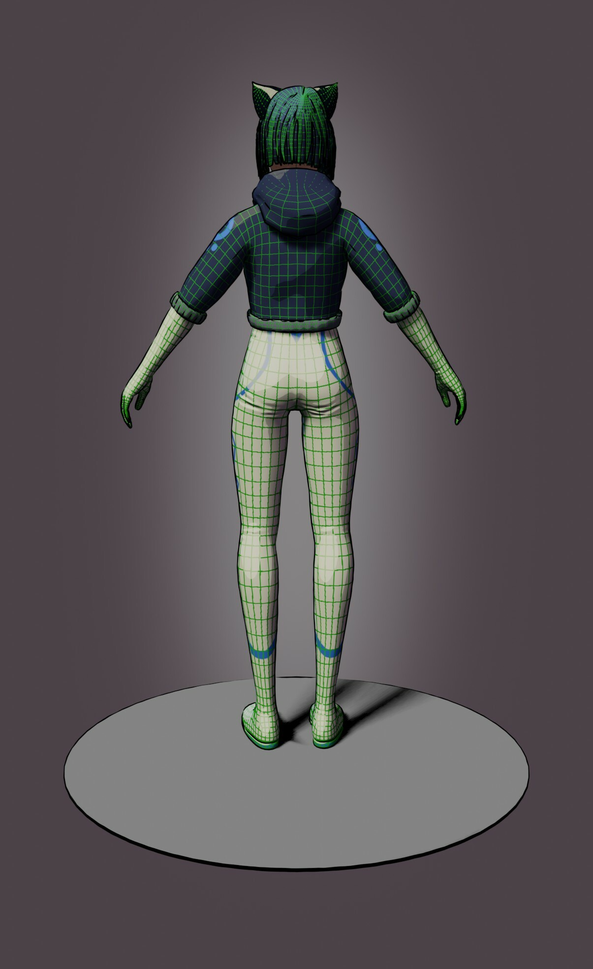 Low poly Back view