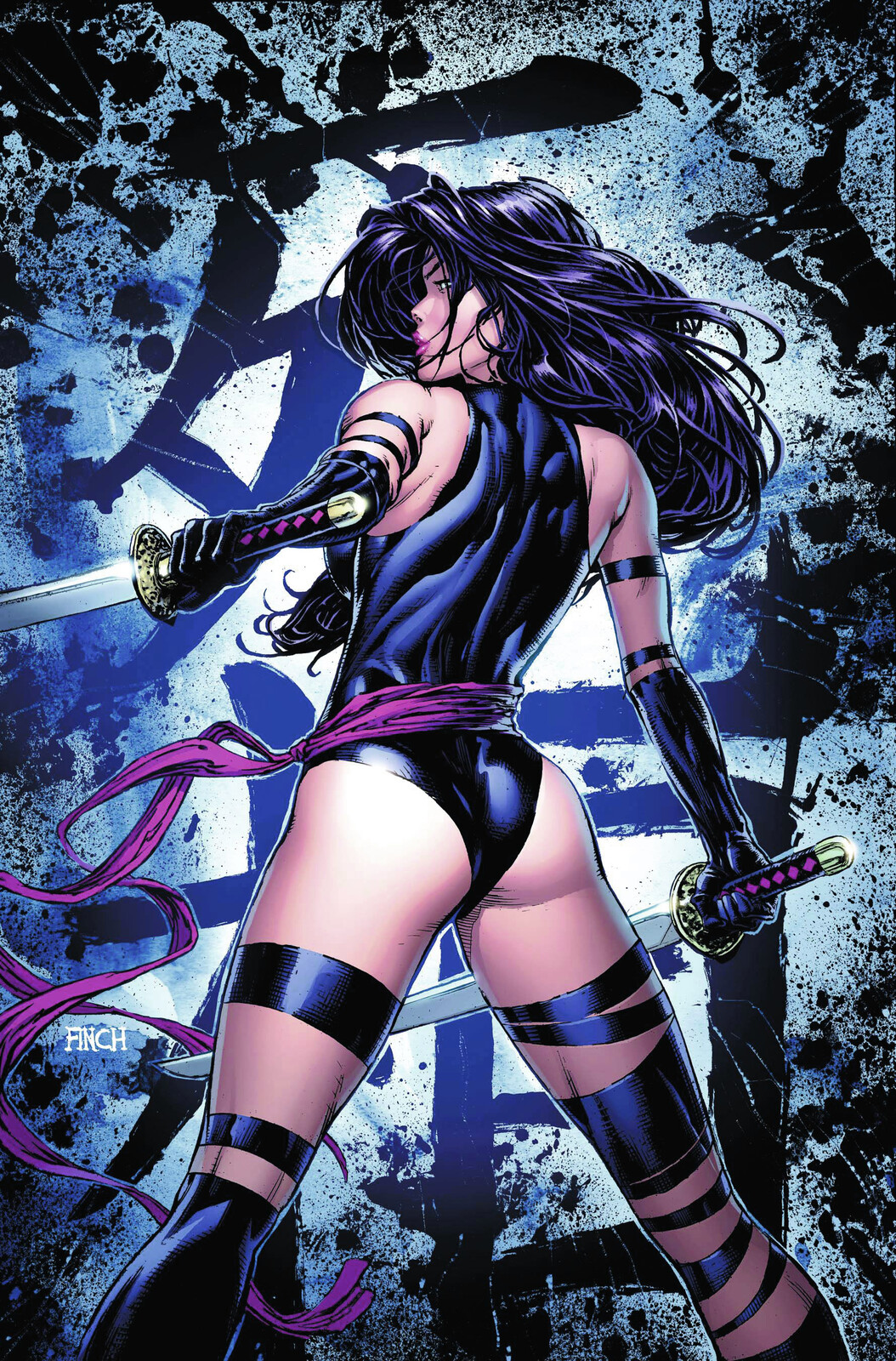 Homage after David Finch's Psylocke #1