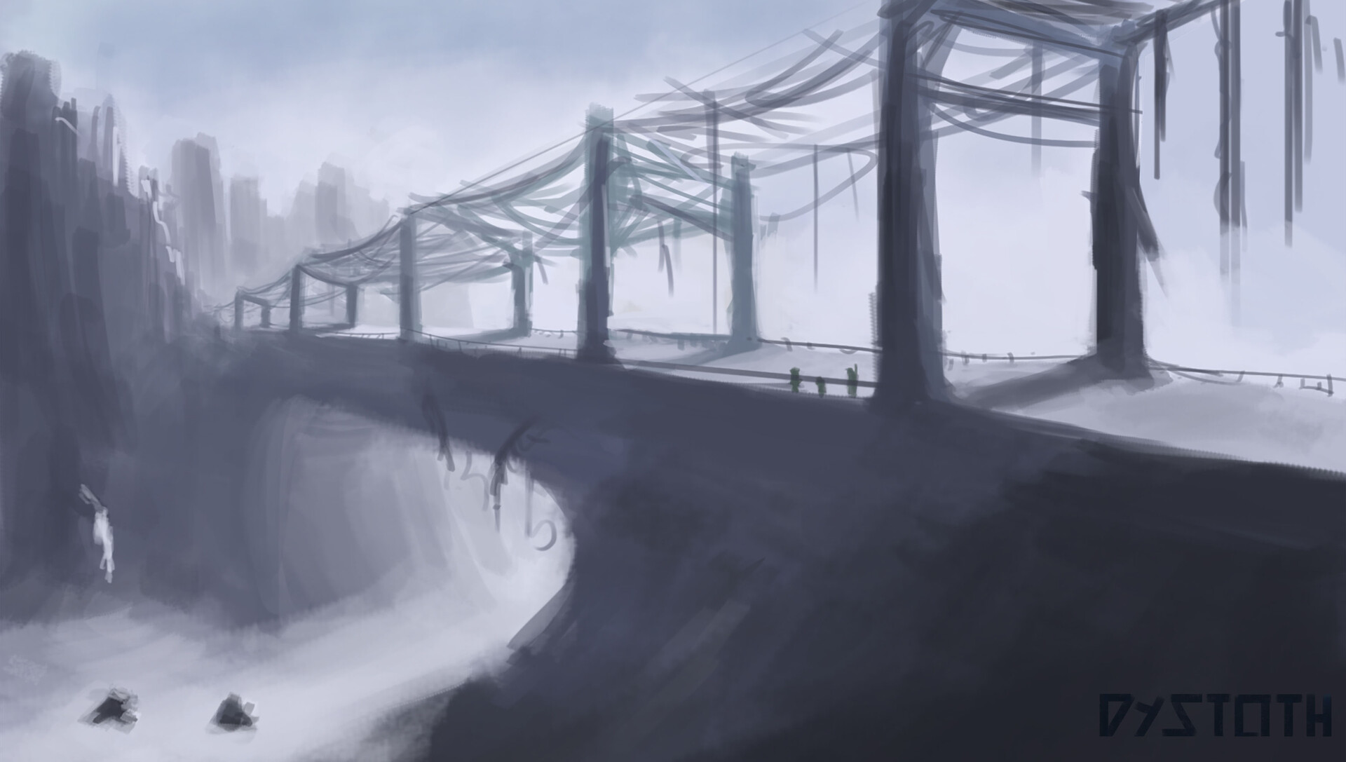 Early sketch of Bridging Cold