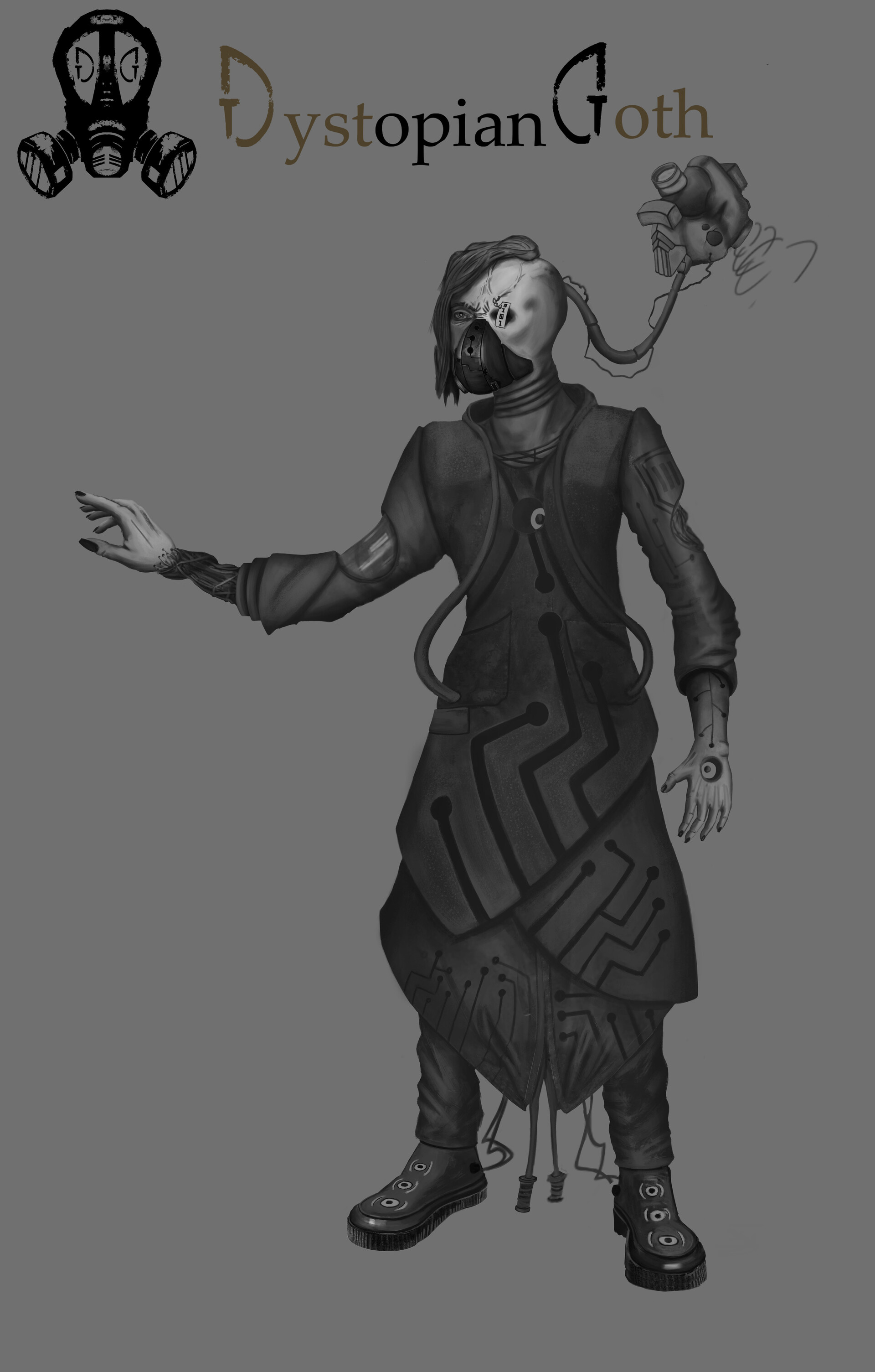 Part way completion of Dystopian Goth | Character_01 - Malevolent