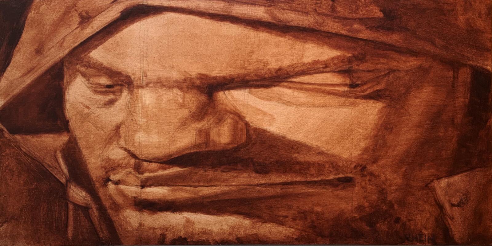 Oil on panel - 20x10