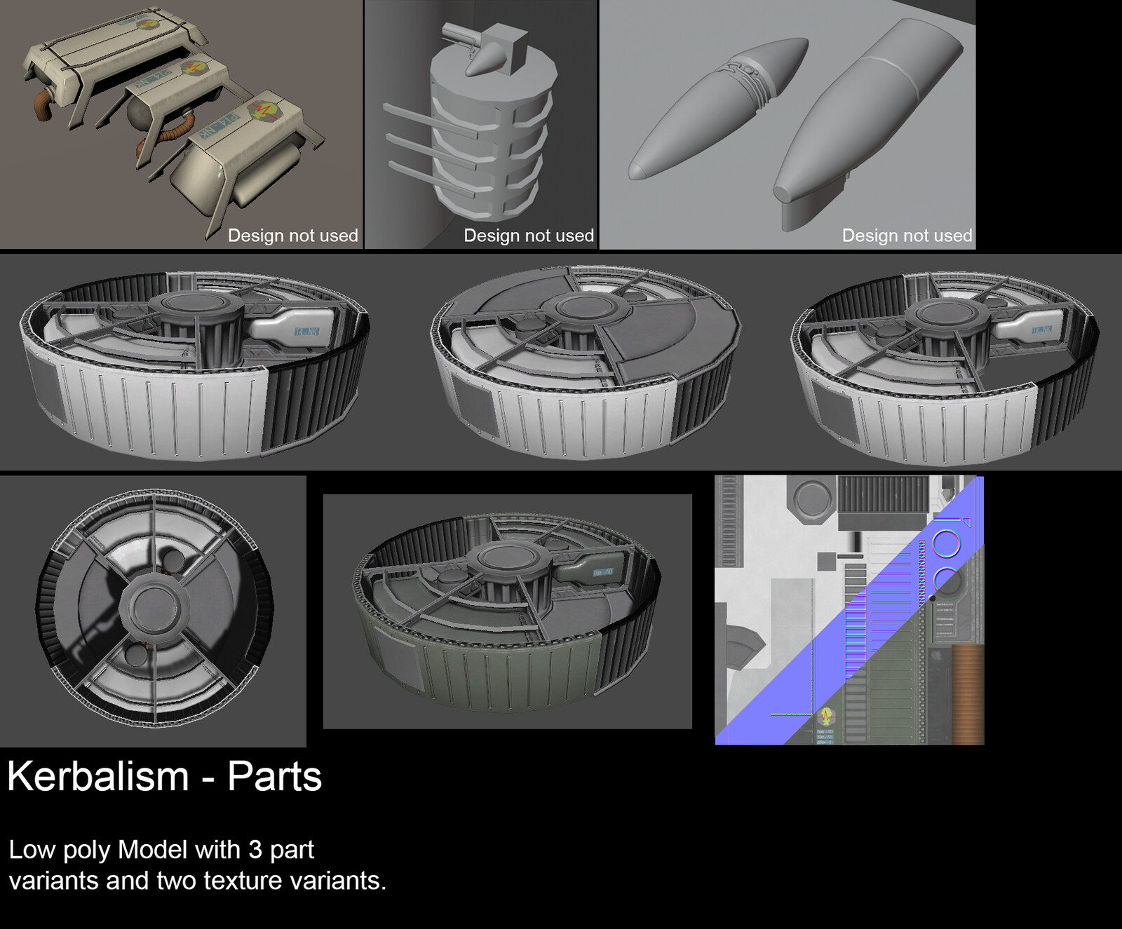 Kerbalism upgrade parts. Many more parts were disolved in the making of this tank.