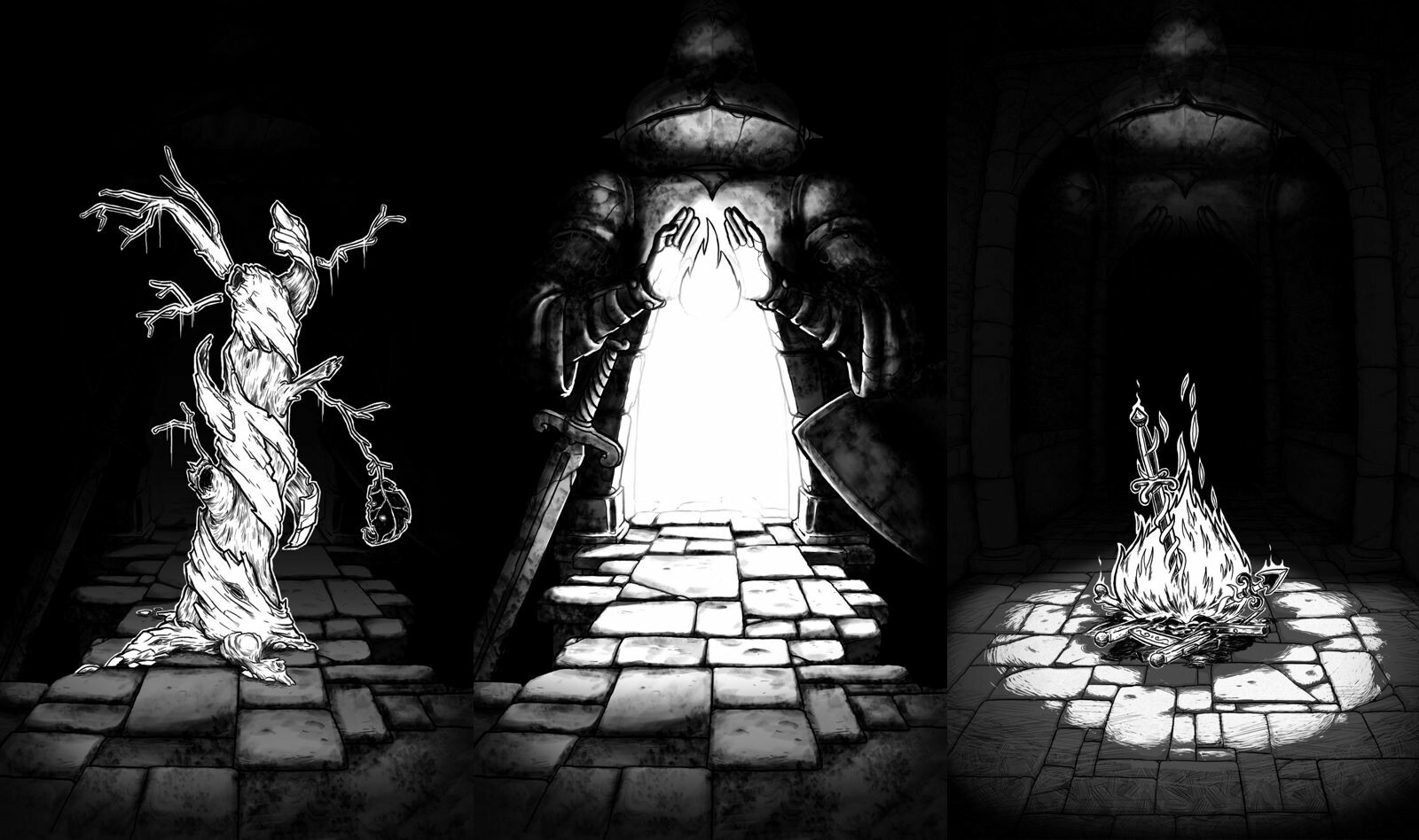 Several non-combat events can occur while roaming the dungeon.