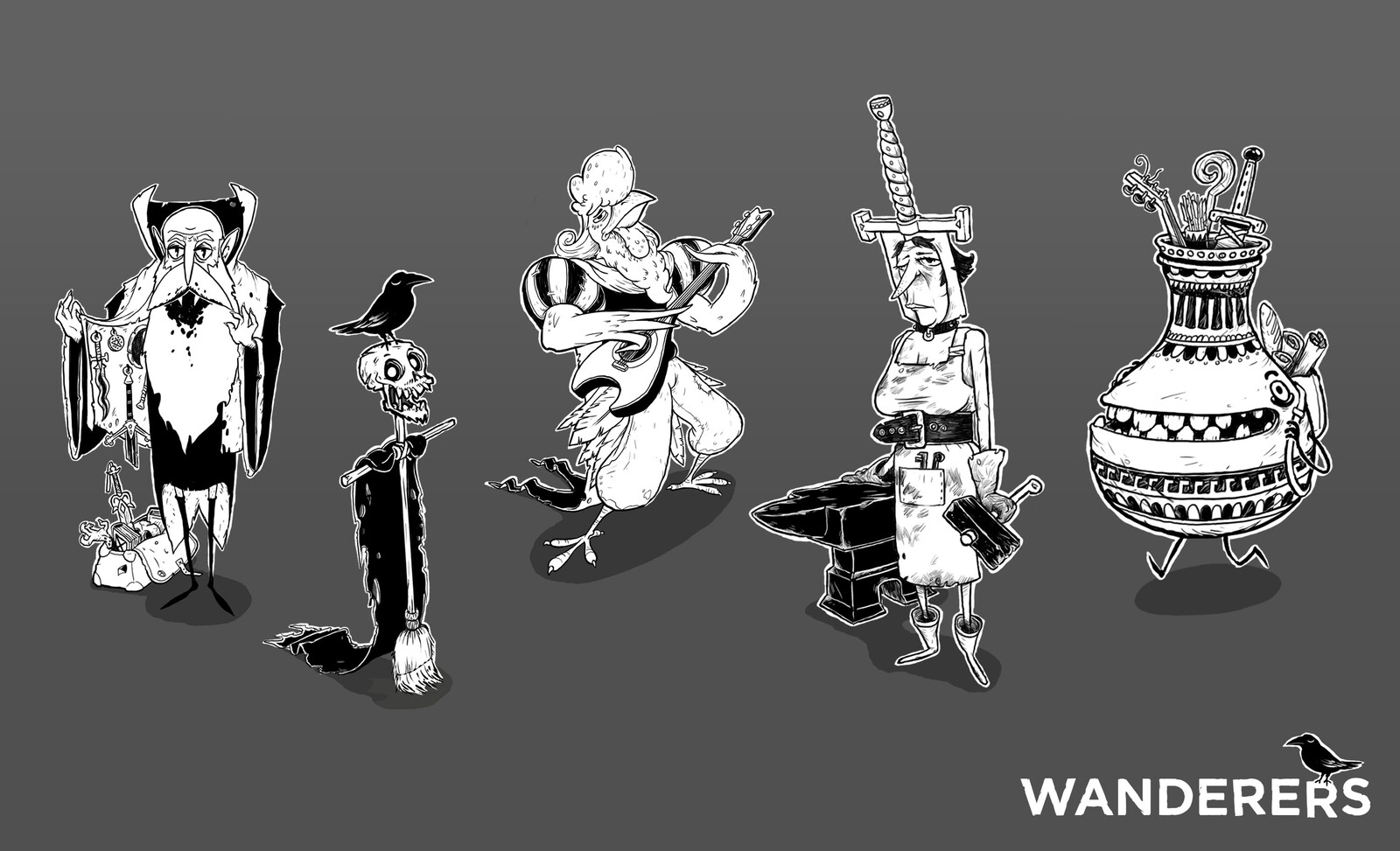 The Wanderers, NPCs that have adopted the dungeon as their home.