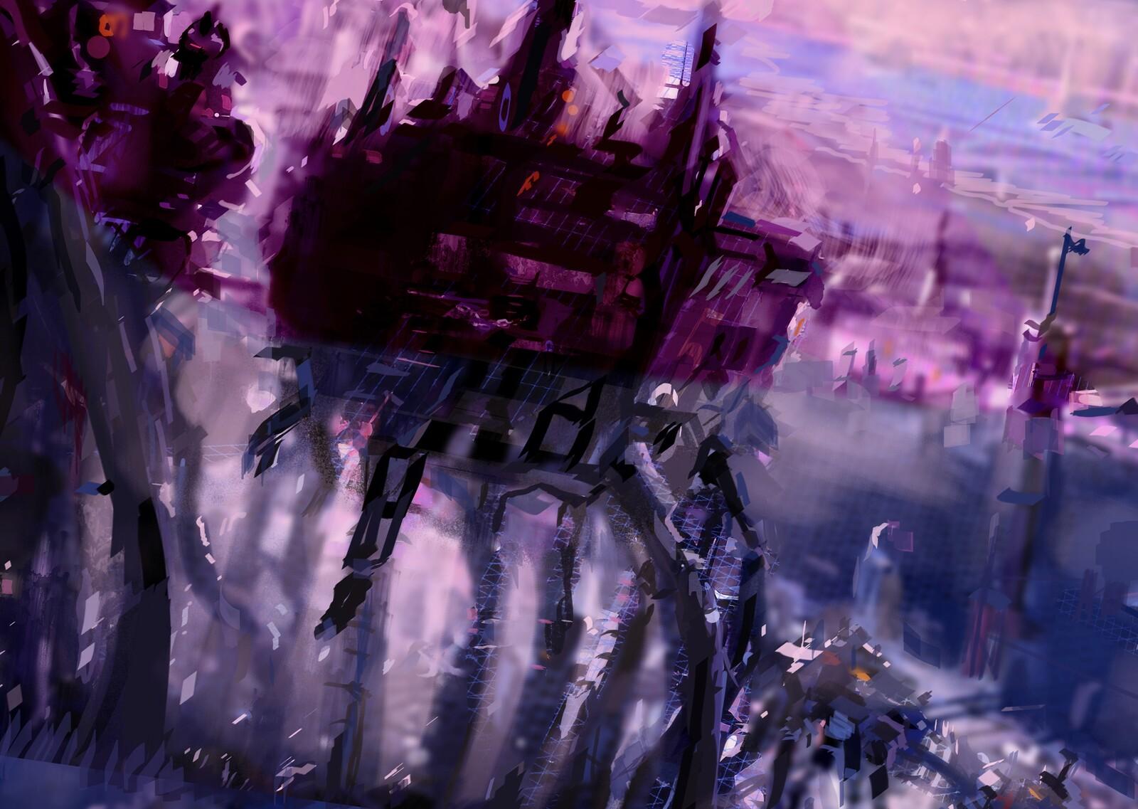 Purple Mech Walkers