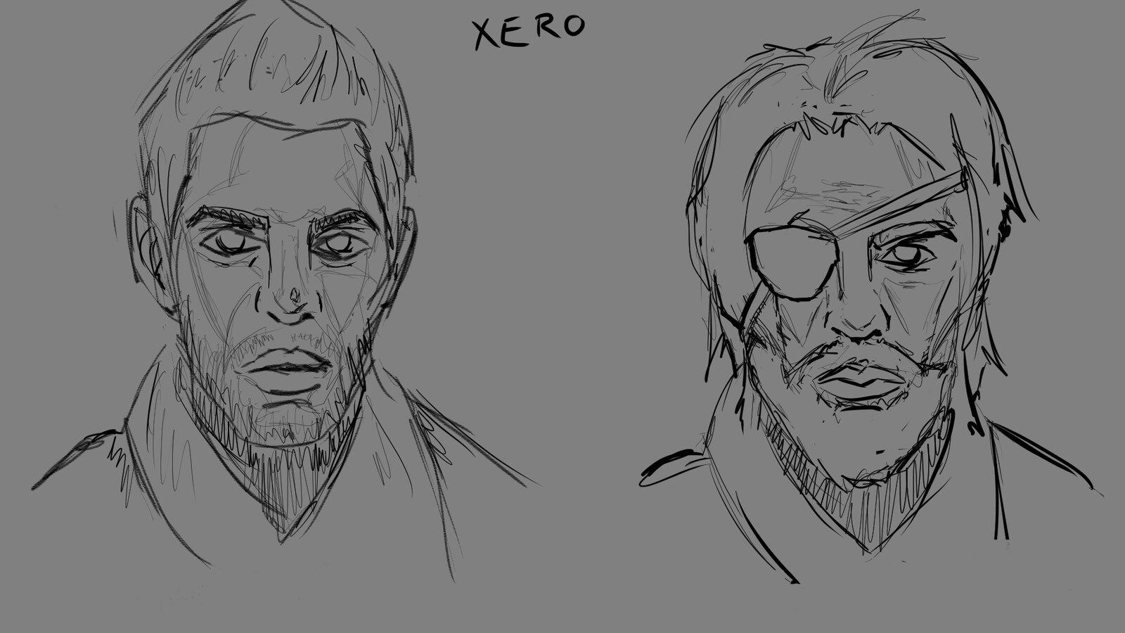 Sketching (with light shadowmapping) in Sketchbook Pro