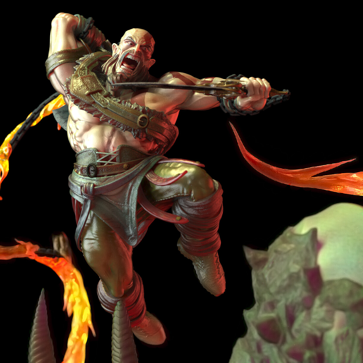 God of war 4 stylish statue