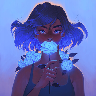 Caroline garcia the blue flower