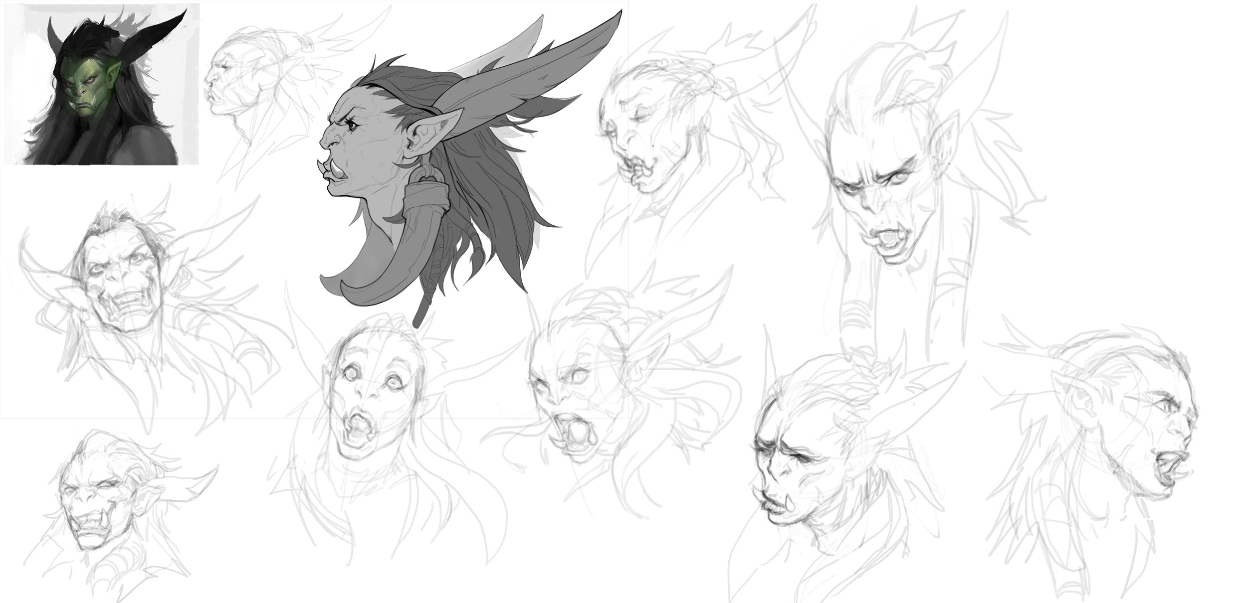 WoW inspired character - expressions