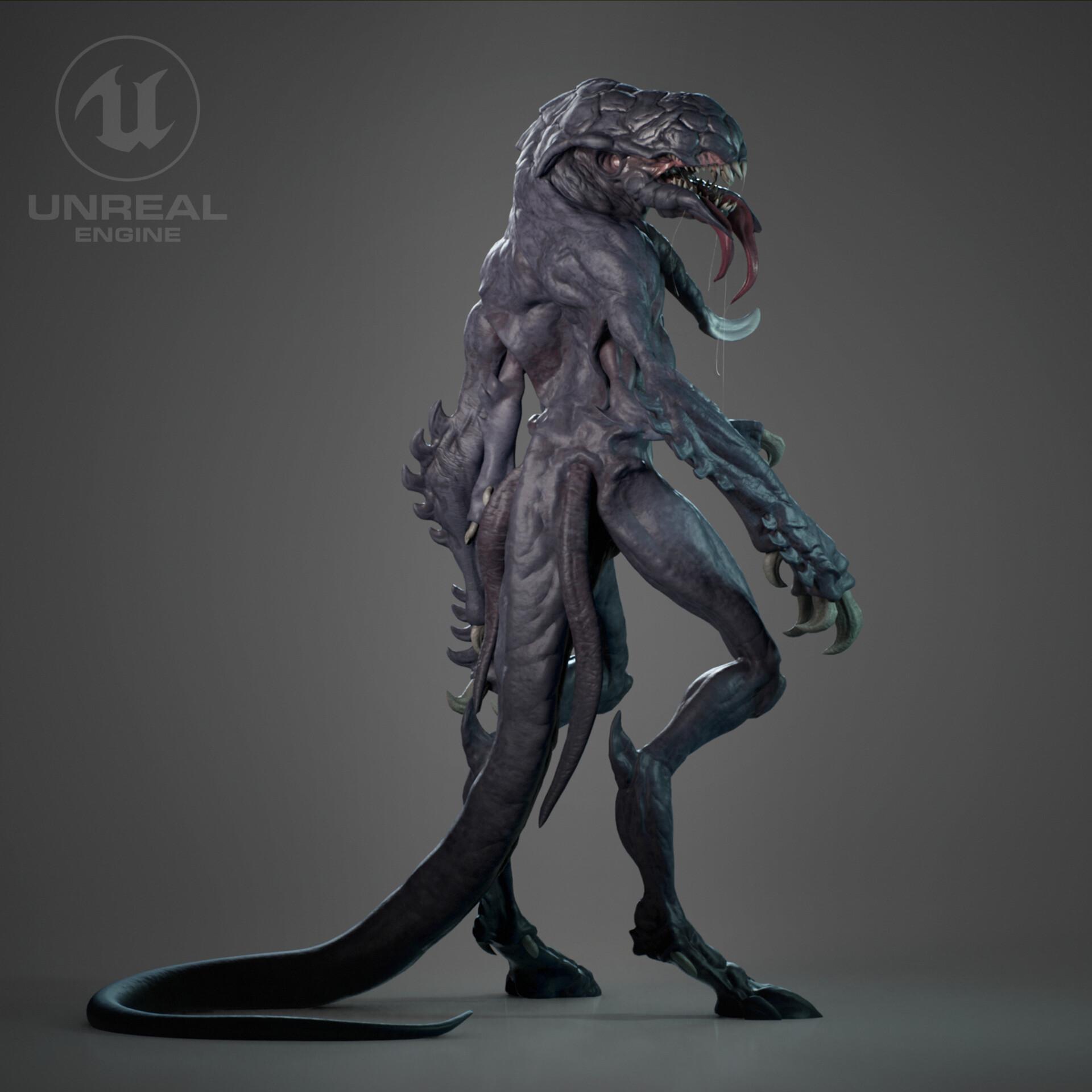 Fiore 05.Artstation Evil Alien Creature Eduardo Fiore