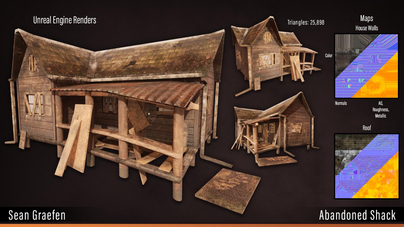 Abandoned shack model sheet.