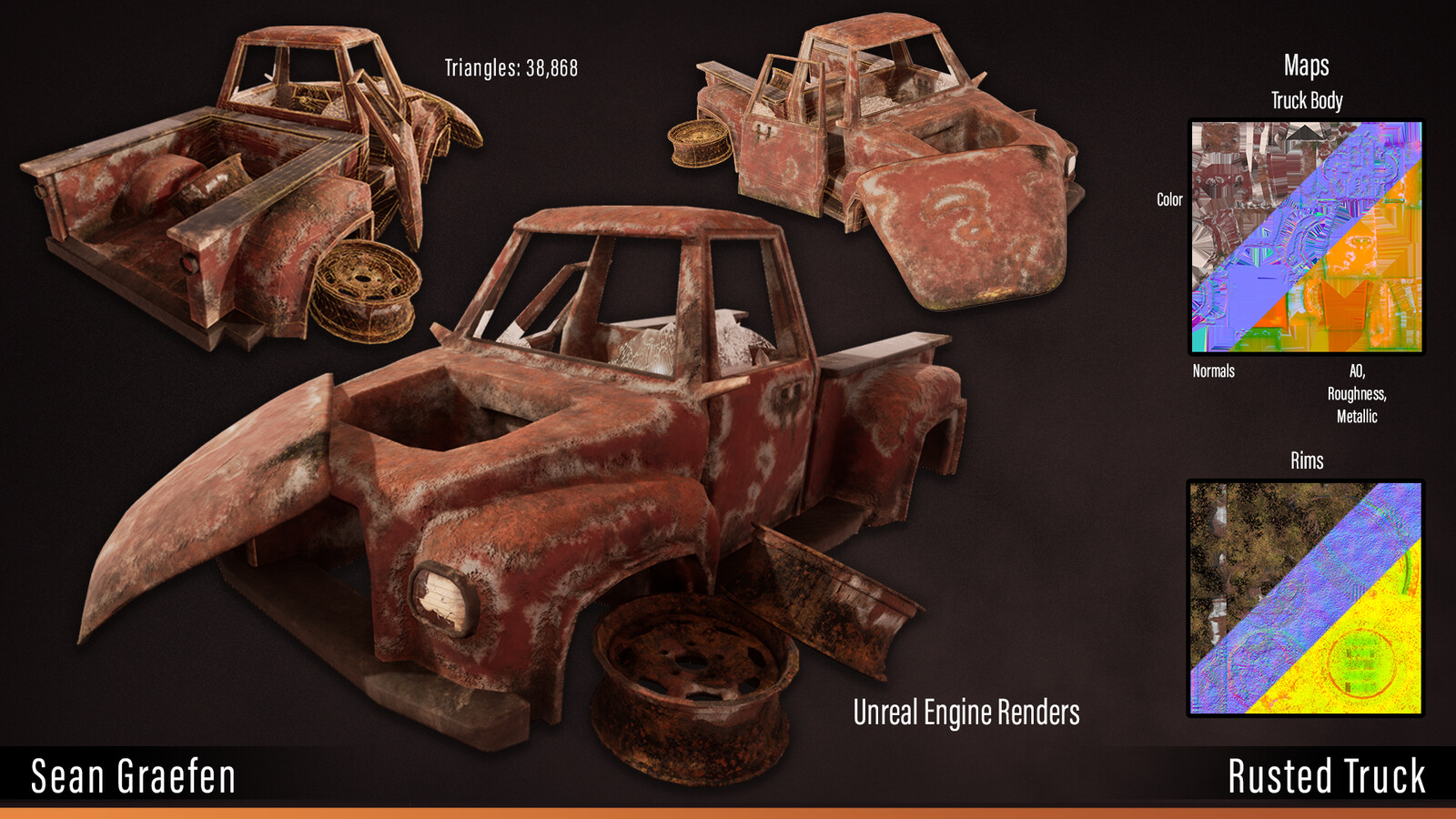 Rusted truck model sheet.