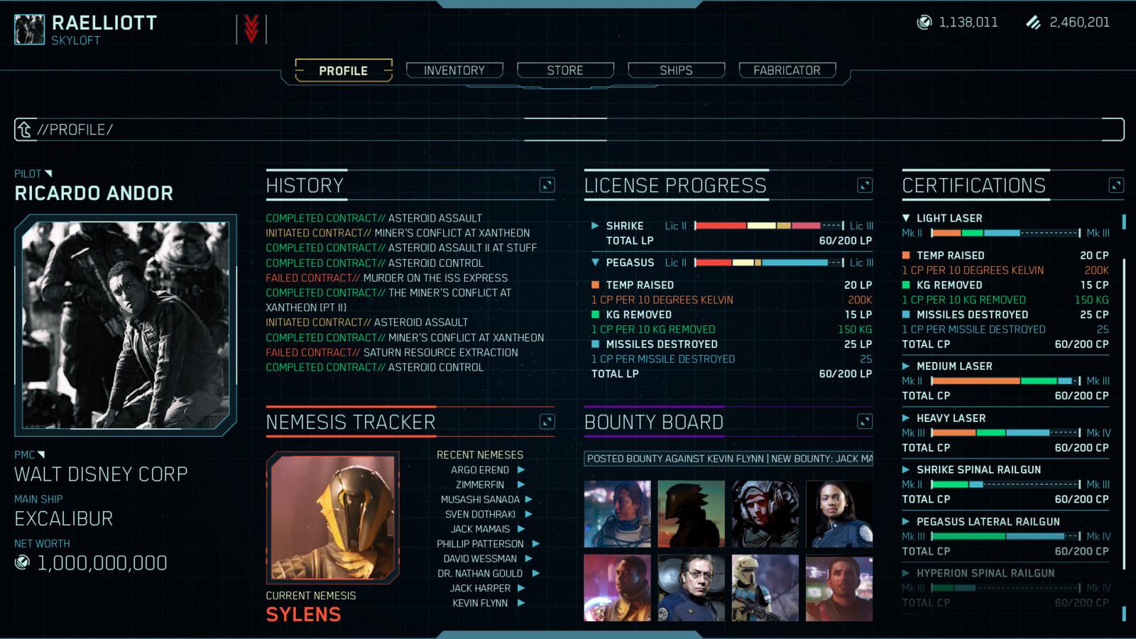Pilot Profile