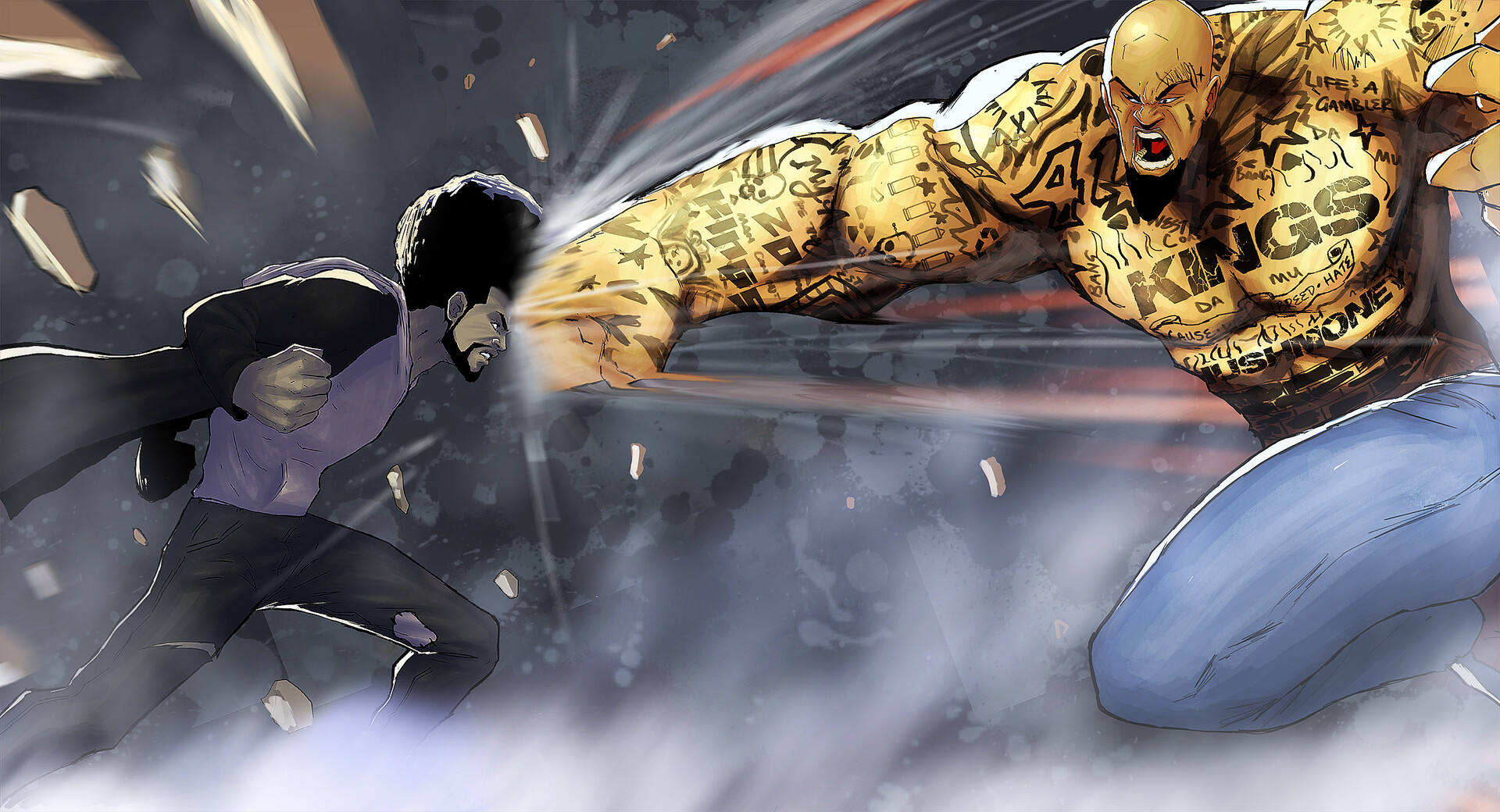 ghost vs golden thug