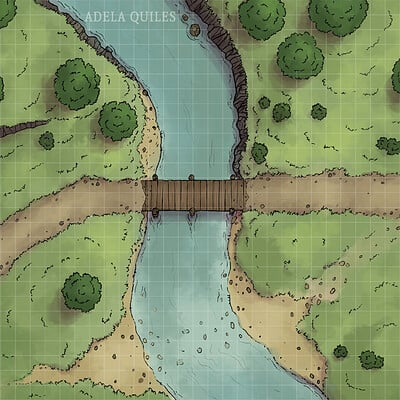 Adela quiles battle map river1 27x33