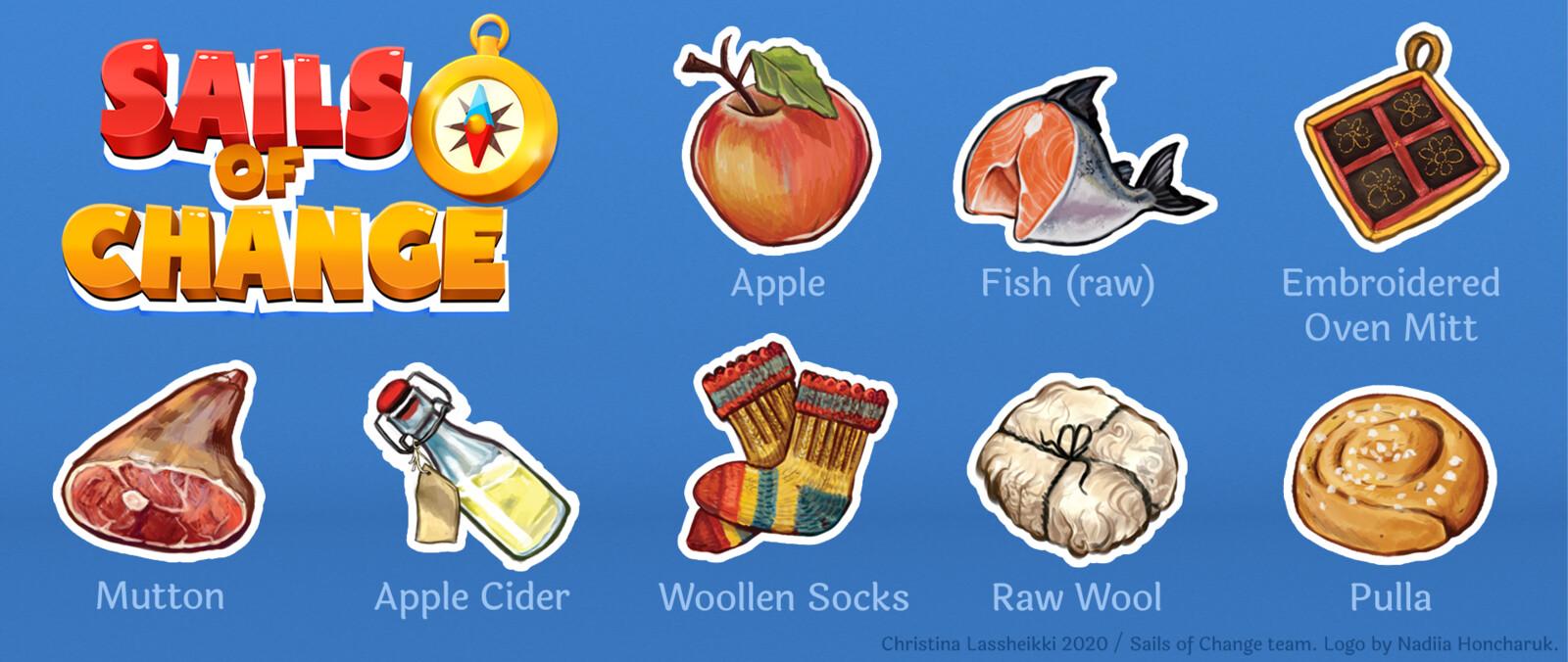 Inventory item illustrations.