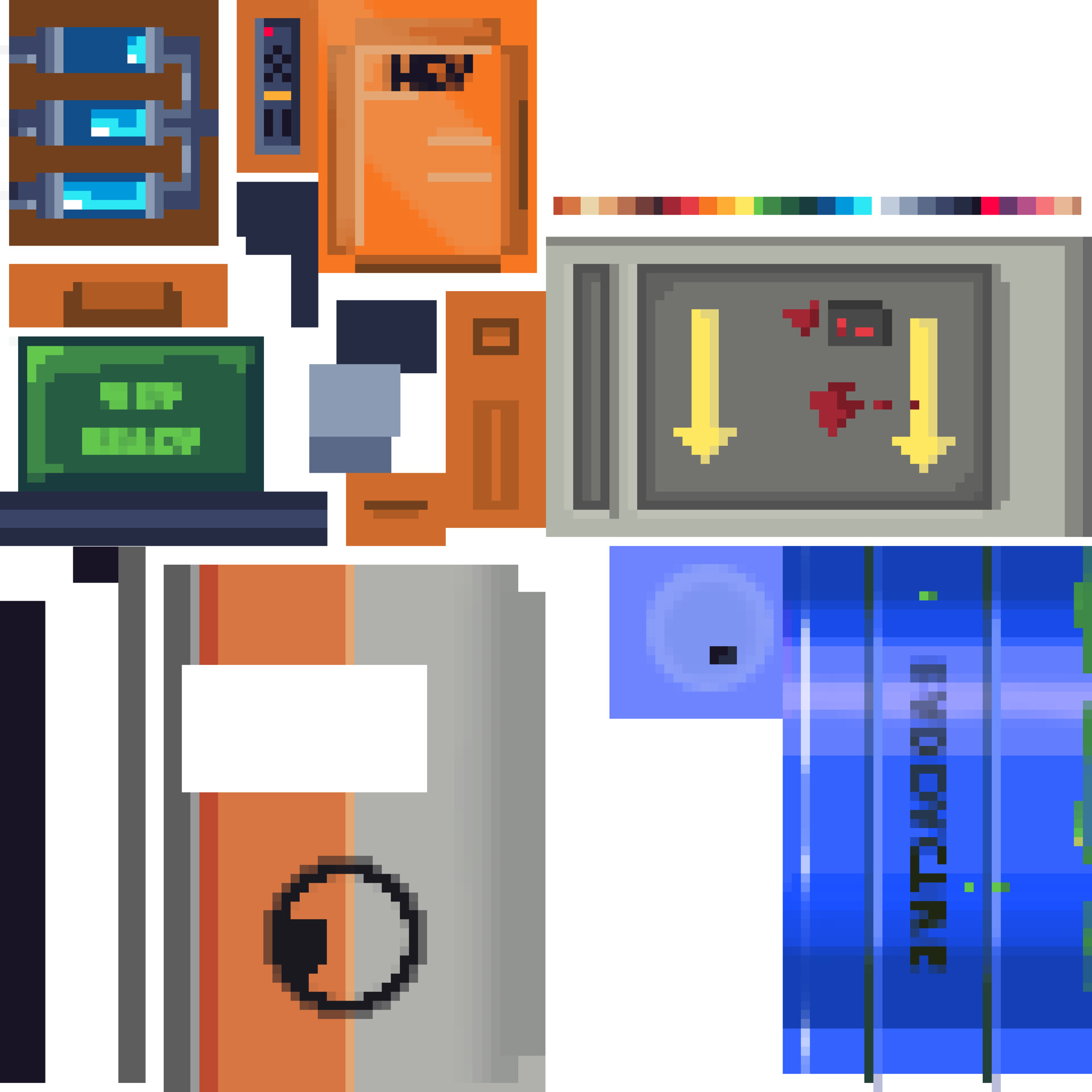 Top right is the colour palette I used. I used this mostly as a guide rather than sticking 100% to it, but I think the flexibility paid off.