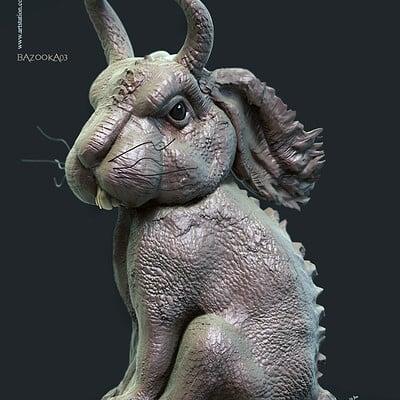 Surajit sen bazooka03 digital sculpture surajitsen feb2020s
