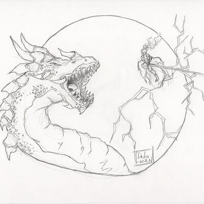 Detonya kan epic dragon fight sketch