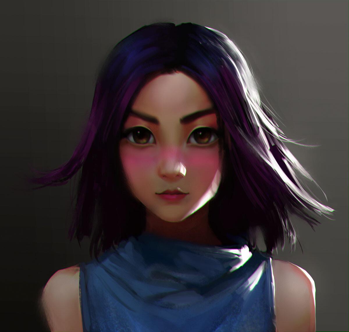 Faye's iconic blush look