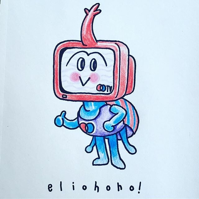 🐞📺 This cute beetle TV mascot poses confidently as they represents a regional TV channel 📺🐞