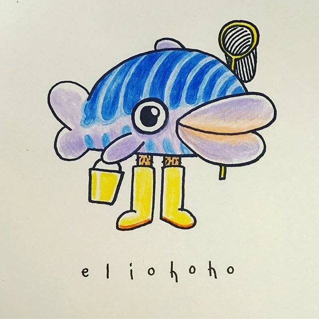 🐠💦 This cute fish is the proud mascot of a famous brand of rubber boots💦🐠