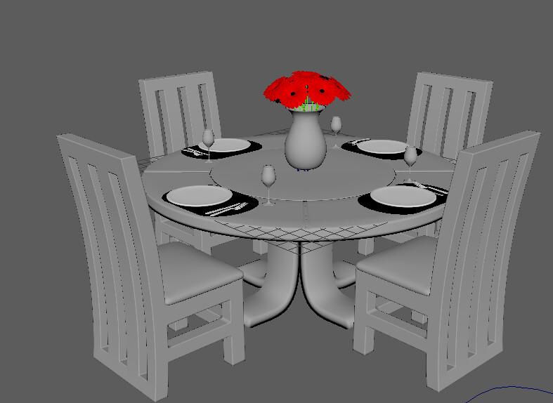 Unfinished Dining Set