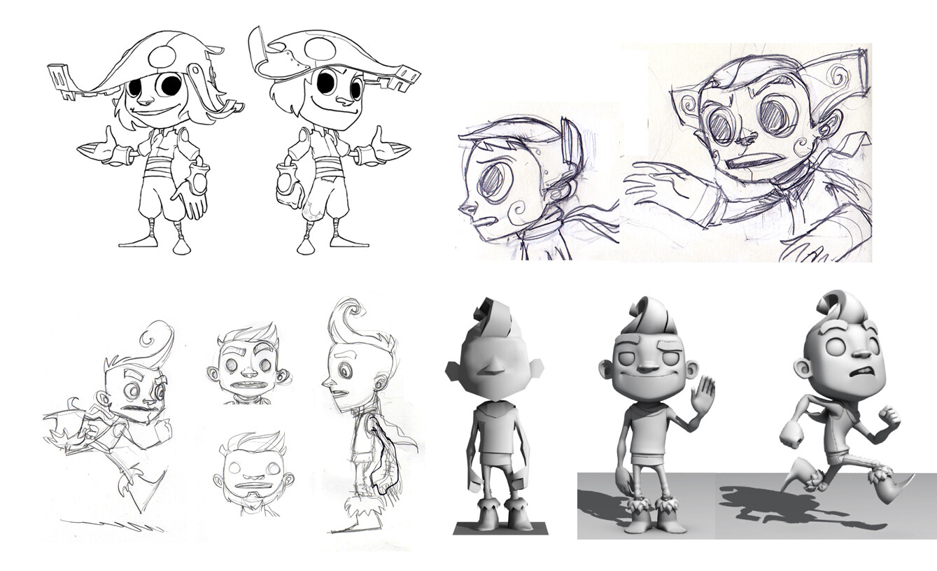 Early versions of the main character